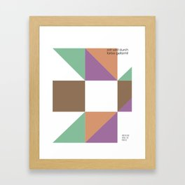 zeit Framed Art Print
