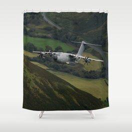 Airbus A400M At Mach Loop Shower Curtain