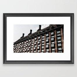 A Reflective Sky Framed Art Print