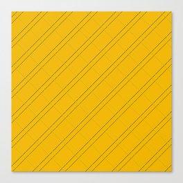 Selective Yellow Crisscross Canvas Print