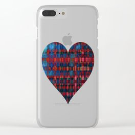 Weather Pattern Divide Plaid Clear iPhone Case