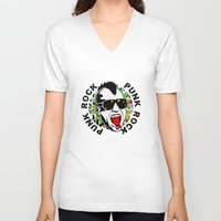punk V-neck T-shirts featuring punk by mark ashkenazi