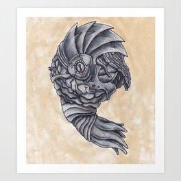 Neptune Octopus Art Print