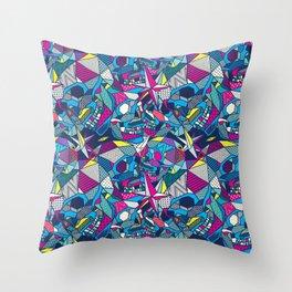 Skulls Geometric 2 Throw Pillow
