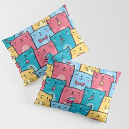 Cute Kawaii Kitty Pattern Pillow Sham