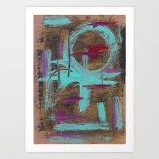 Turquoise/purple abstract Art Print