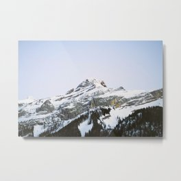 The Glacier Metal Print