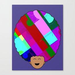 glitch afro Canvas Print