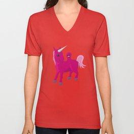 Unicorn with a Tumor Unisex V-Neck