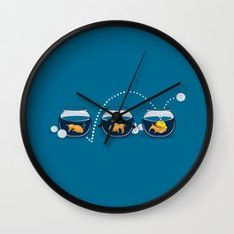 Prepared Fish Wall Clock