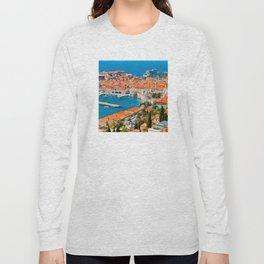 Croatia Harbor Long Sleeve T-shirt