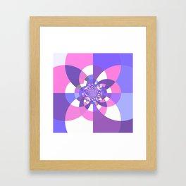 Unicorn Kaleidoscope Mandala Framed Art Print
