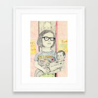 ghost world Framed Art Prints featuring ghost world by withapencilinhand