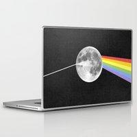 dark side of the moon Laptop & iPad Skins featuring Dark Side of the Moon. by Nick Nelson