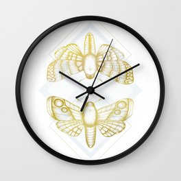 Polillas - Gold Wall Clock