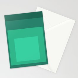Block Colors - Mint Green Stationery Cards