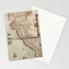 Vintage Map of Peru (1638) Stationery Cards