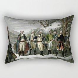 Washington and His Generals Rectangular Pillow