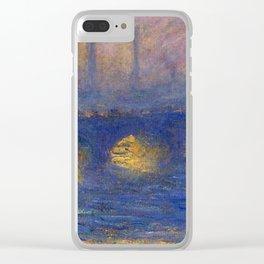 "Claude Monet ""Waterloo bridge, overcast weather"" Clear iPhone Case"