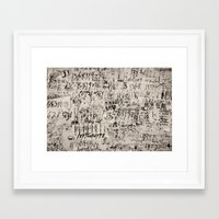 numbers Framed Art Prints featuring numbers. by RAIKO IVAN雷虎