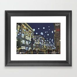 #Calendario de Adviento: Christmas is not all about shopping . . .   Framed Art Print