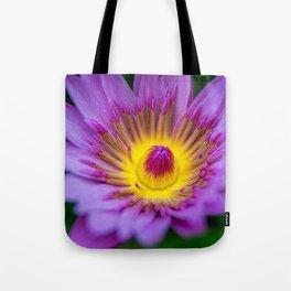 Purple Waterlily Macro Tote Bag