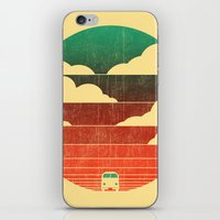 beach iPhone & iPod Skins featuring Go West by Picomodi