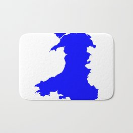 Silhouette Map Of Wales Bath Mat