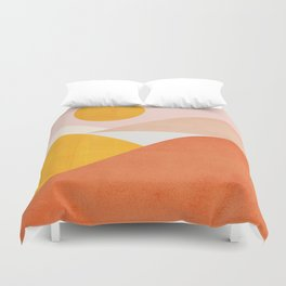 Abstraction_Mountains Duvet Cover
