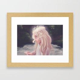 Girl by the River Framed Art Print