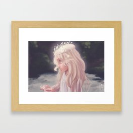 Girl by the River Framed Art Print