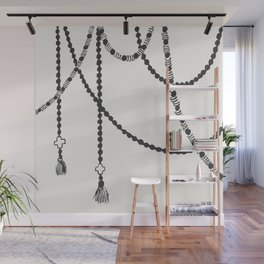 Beaded Garland With Tassels Wall Mural