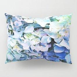 Soft Tri-Color Pastel Hydrangea Pillow Sham