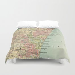 Vintage Map of Madras India (1909) Duvet Cover