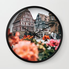 Rothenburg Ob Der Tauber Bavaria Germany Wall Clock