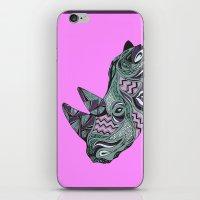 rhino iPhone & iPod Skins featuring Rhino by Cosy Walnut