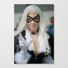 Black Cat by Feisty Vee Canvas Print