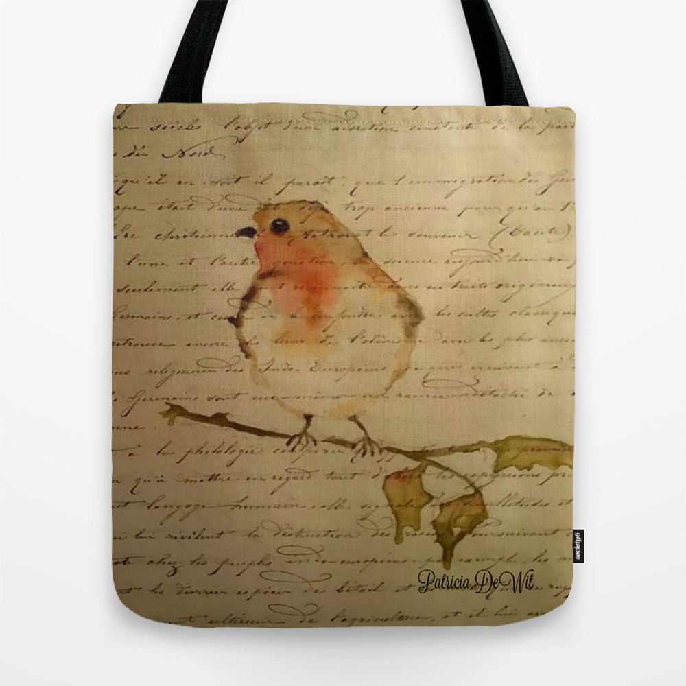 Robin Redbreast Tote Bag by Patridew (TBG8055540) photo