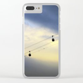 PHOTOGRAPHY / CABLE CAR IN THE SKY 01 Clear iPhone Case