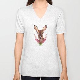 Fireweed Deer Unisex V-Neck