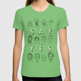 Ancient Aliens - Cast of Caricatures - Say Yes T-shirt