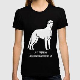 Irish-Wolfhound-tshirt,-just-freaking-love-my-Irish-Wolfhound T-shirt