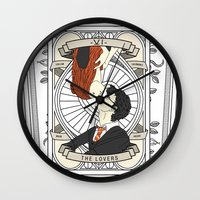 harry potter Wall Clocks featuring Harry Potter Tarot by Luke Eckstein