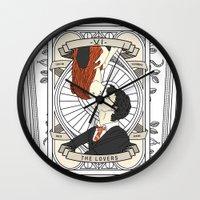 tarot Wall Clocks featuring Harry Potter Tarot by Luke Eckstein