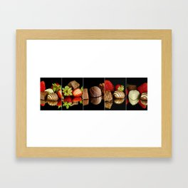 Chocolate and Strawberry Collage - Cafe or Kitchen Decor Framed Art Print