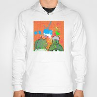 cartoons Hoodies featuring Cartoons and Cereal by Kerosene Bill