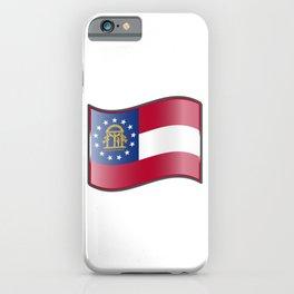 Waving Georgia Flag  iPhone Case
