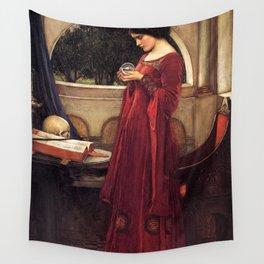 John William Waterhouse - The Crystal Ball Wall Tapestry