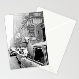 Llama-Linda with pipe Stationery Cards