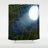 rome Shower Curtains featuring Rome by Red Gauntlet